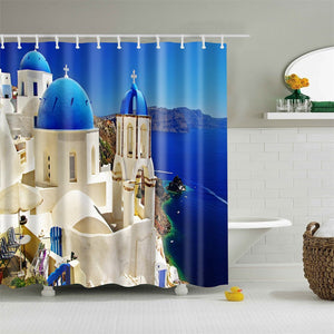 Fashion Polyester Fabric Shower Curtain 66 x 72inch Home Decor