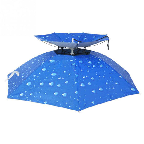 New Outdoor Large double-deck Cycling Fishing Hiking Beach Camping Women Men Kid Sunshade Sunny Rainy anti-UV Umbrella Hat Cap