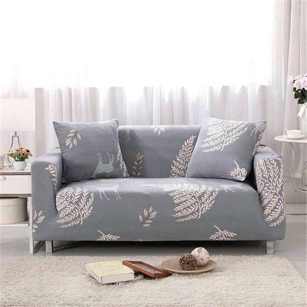 2 Seater Sofa Slipcover Stretch Protector Soft Couch Cover Flower Floral Cover