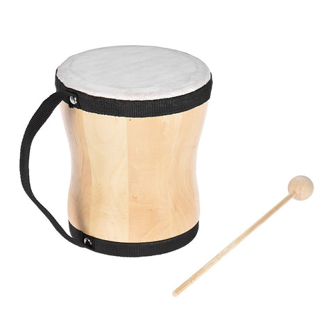 Wood Hand Bongo Drum Musical Toy Percussion Instrument with Stick Strap for Kids Children Party Club Carnival