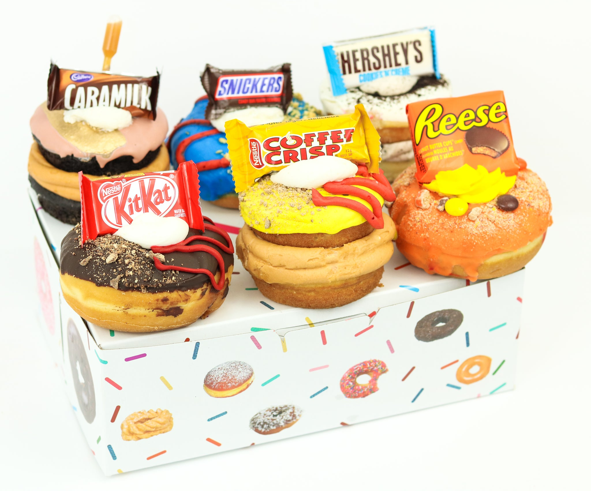 Chocolate Bar Donut Collection (6)