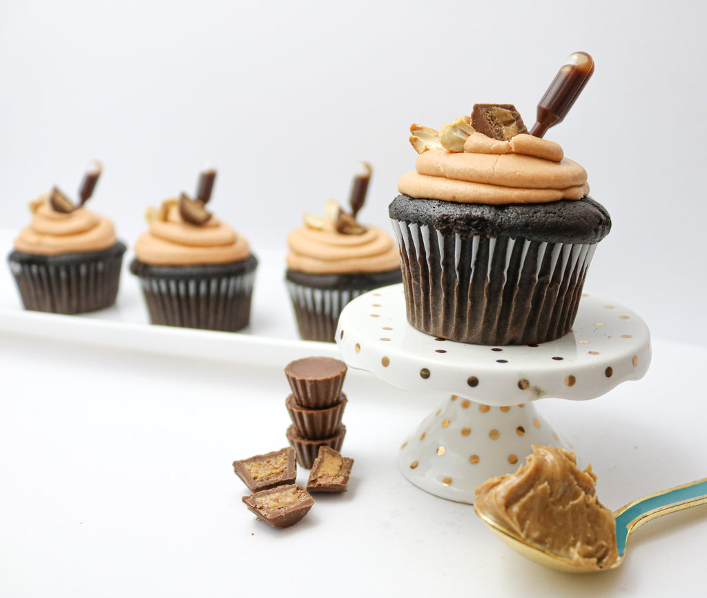 Chocolate Peanut Butter Cupcakes (12)