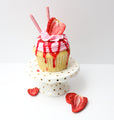 Strawberry Buttercream Cupcakes (12) - Chick Boss Cake