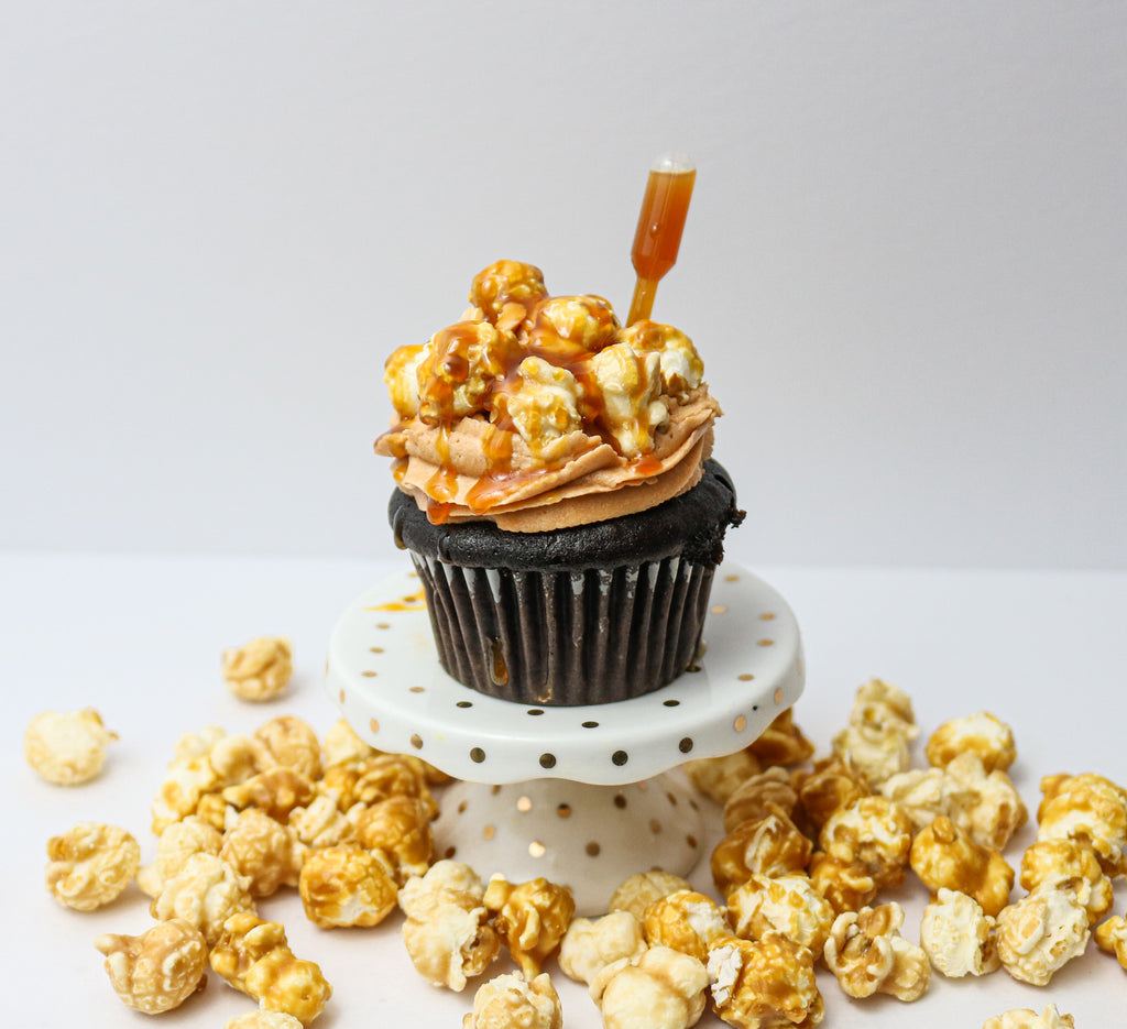 Chocolate Caramel Corn Cupcakes (12)