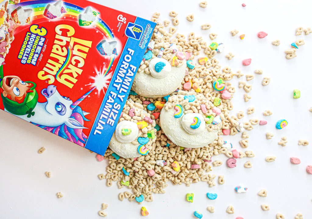 Lucky Charm Milk & Cereal Fried Donuts (12)
