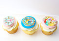 Gluten Free & Low Lactose Custom Themed Cupcakes (12) - Chick Boss Cake