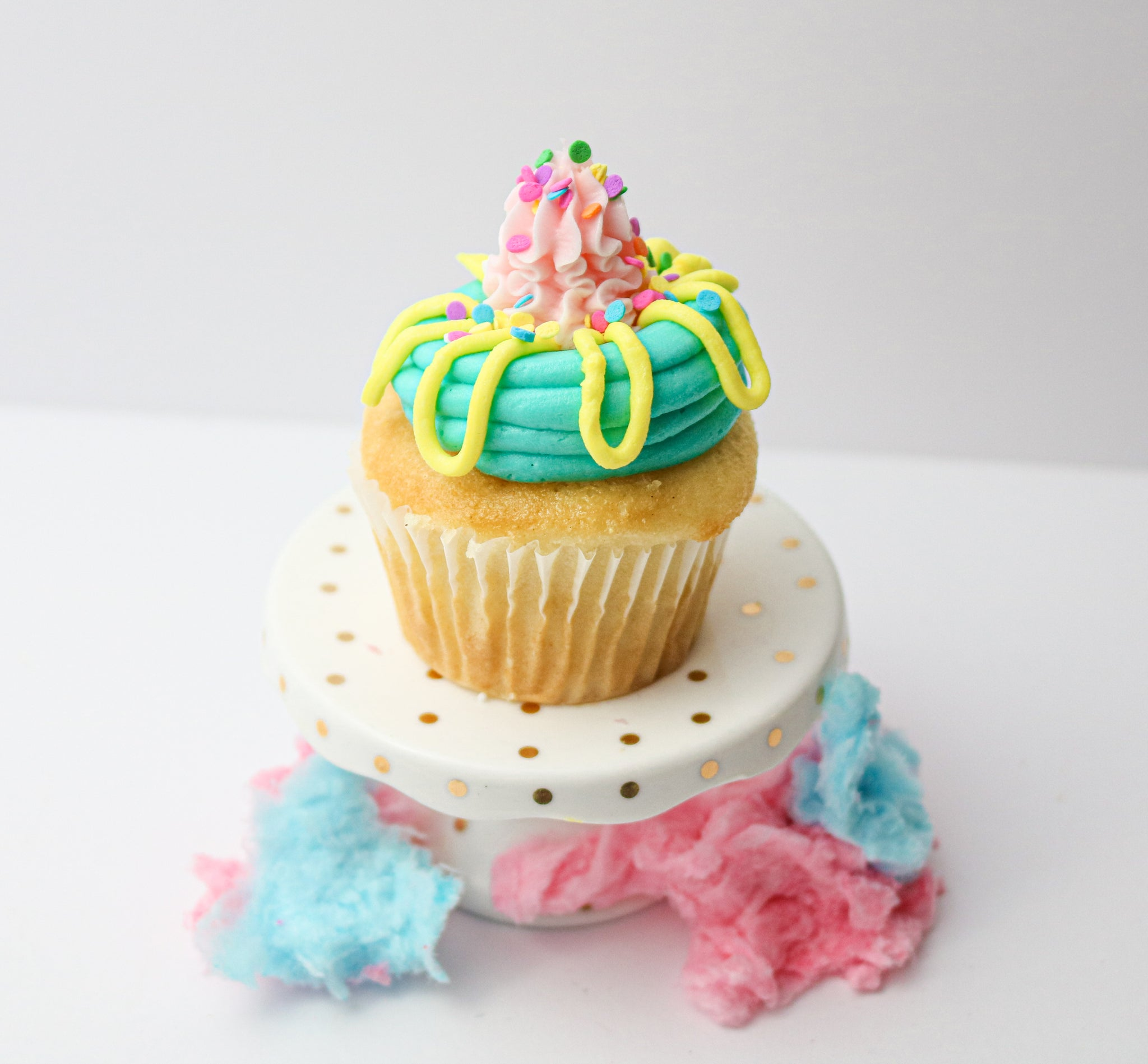 Cotton Candy Vegan Cupcakes (12)