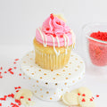 Raspberry White Chocolate Cupcakes (12) - Chick Boss Cake