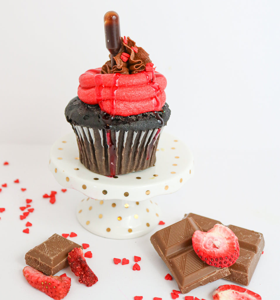 Chocolate Strawberry Cupcakes (12)
