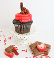 Chocolate Strawberry Cupcakes (12) - Chick Boss Cake