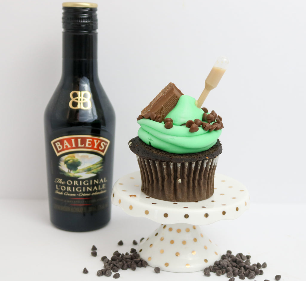 Mint Mudslide Tipsy Cupcakes 12 (contains alcohol)