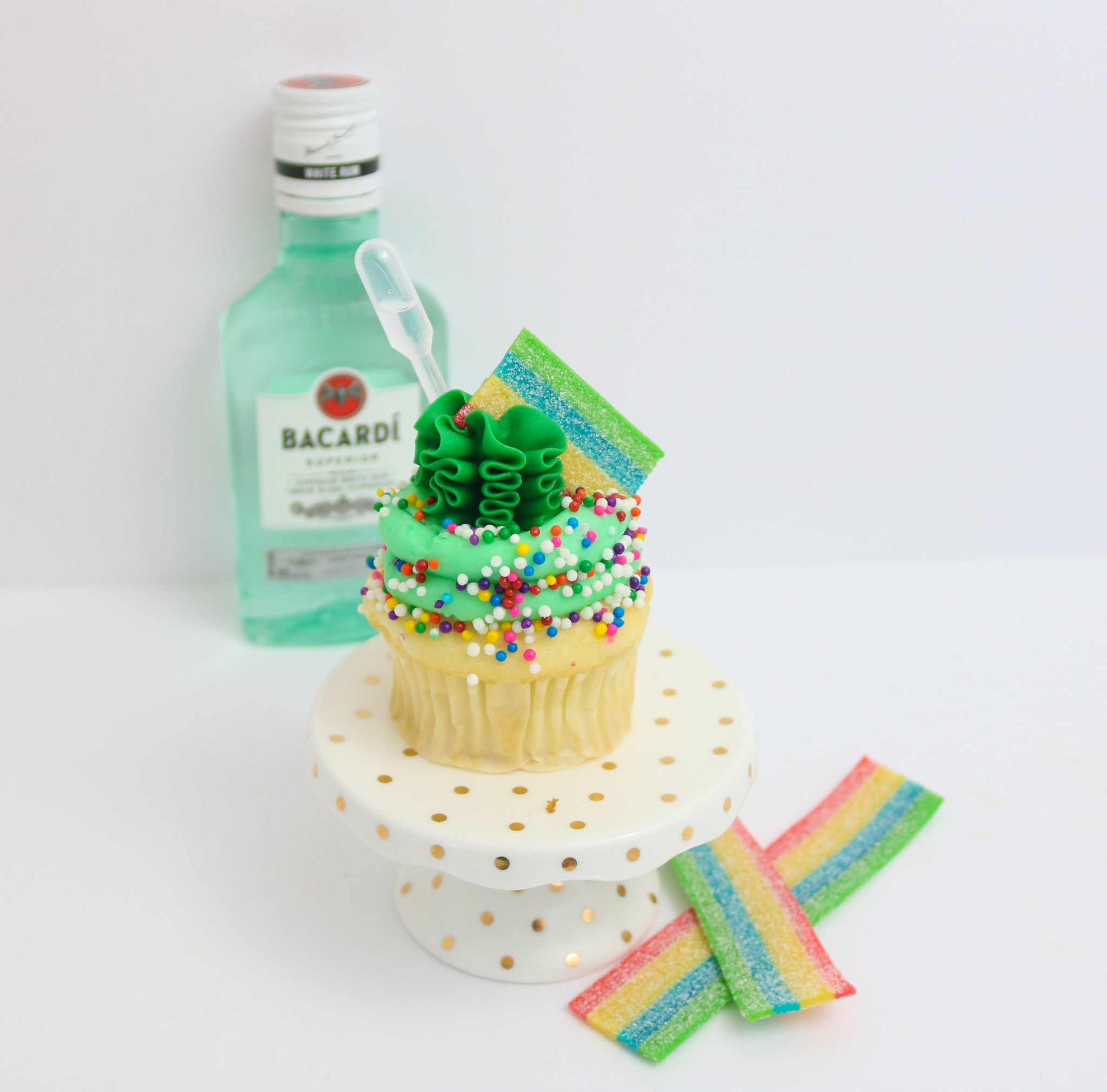 Rainbow Candy Rum Tipsy Cupcakes 12 (contains alcohol)