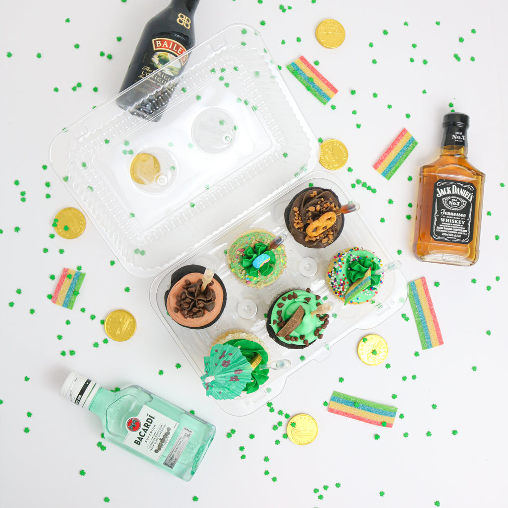 St Patrick's Tipsy Cupcakes (contains alcohol)