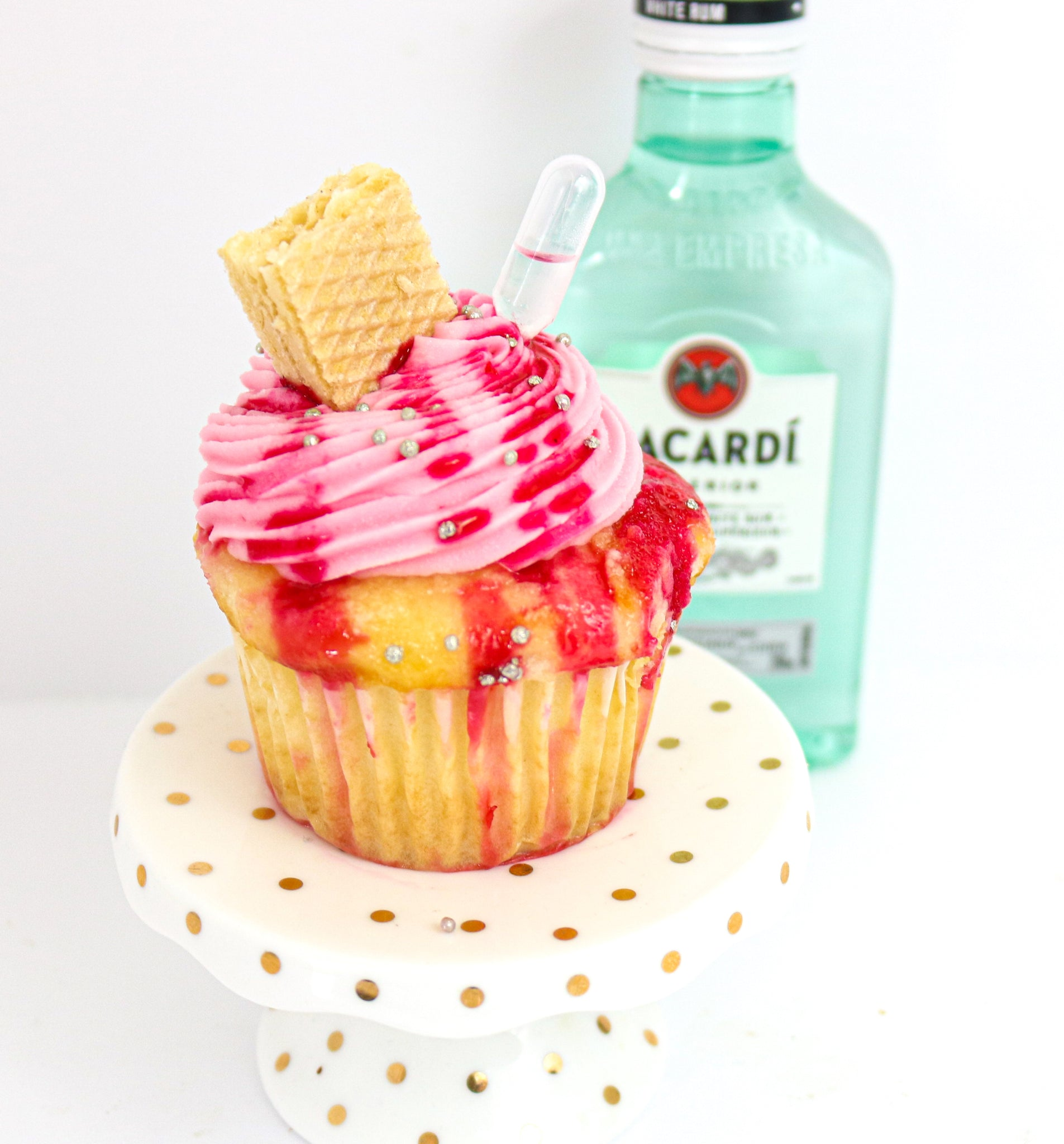 Strawberry Daiquiri Tipsy Cupcakes 12 (contains alcohol)