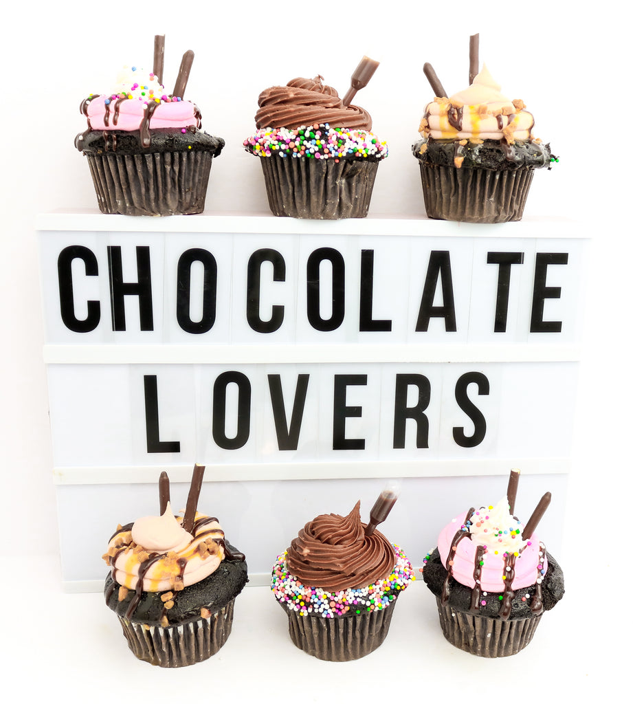 Chocolate Lover's Cupcakes (6)