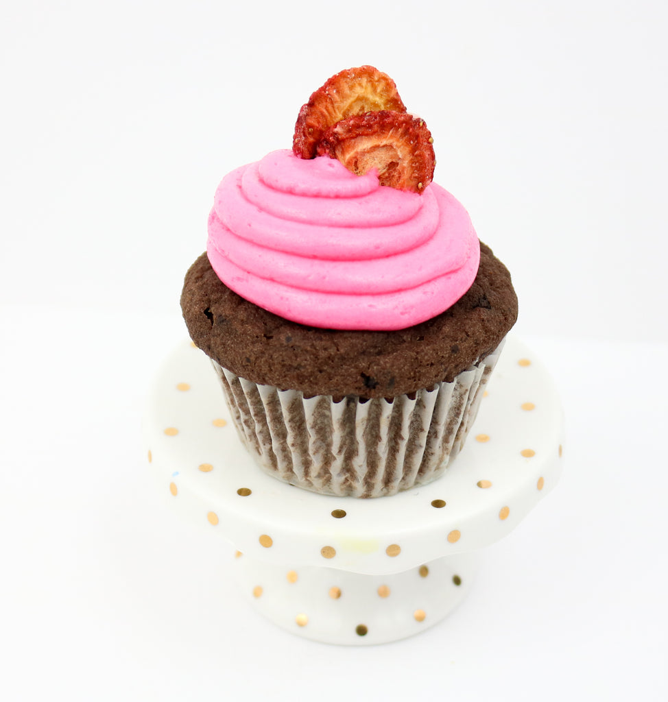 Chocolate Strawberry Keto Cupcakes (12)