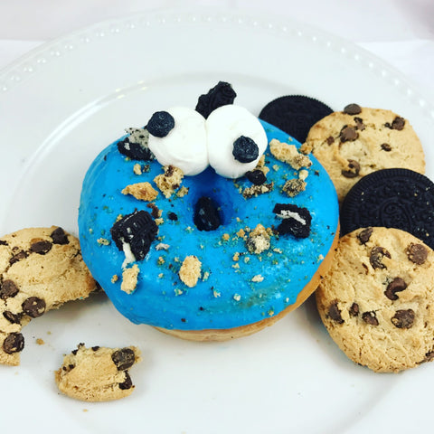 Cookie Monster Fried Donuts (12) - Chick Boss Cake London Ontario