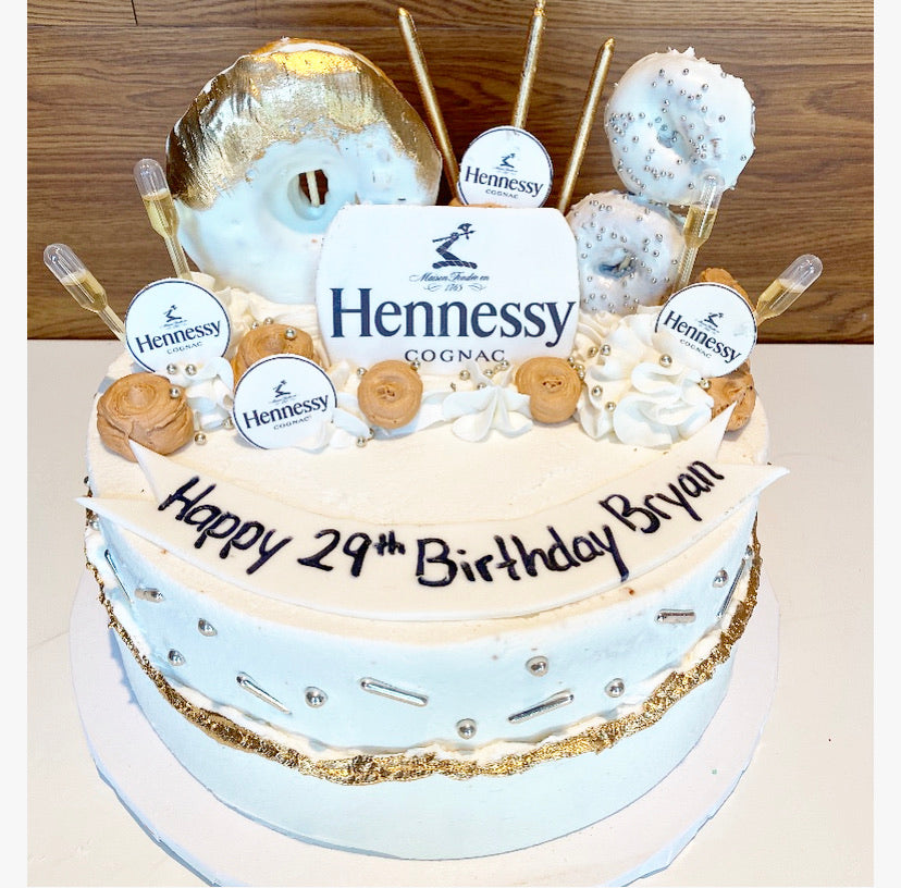 Hennessy Tipsy Cake (contains alcohol)