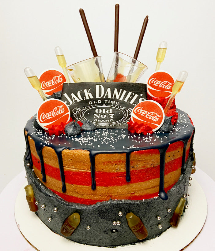 Jack & Coke Tipsy Cake (contains alcohol)