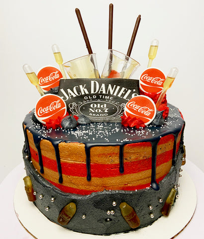 Jack & Coke Tipsy Cake (contains alcohol) - Chick Boss Cake London Ontario