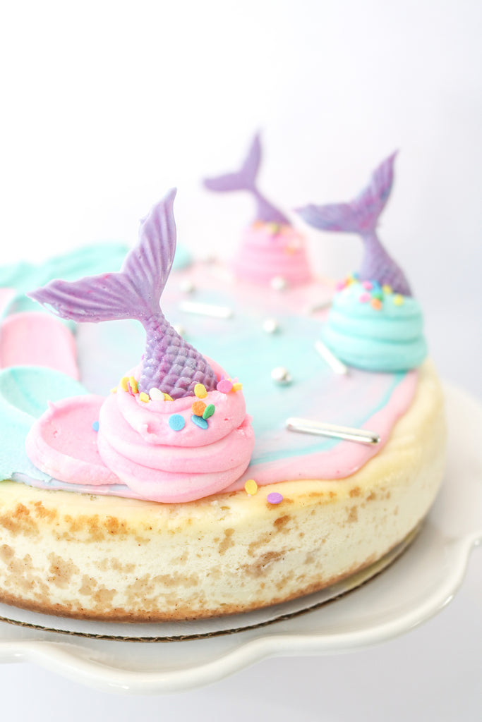 Cotton Candy Mermaid Cheesecake
