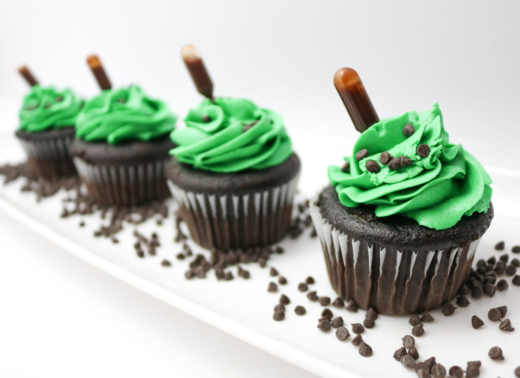 Chocolate Mint Cupcakes (12)