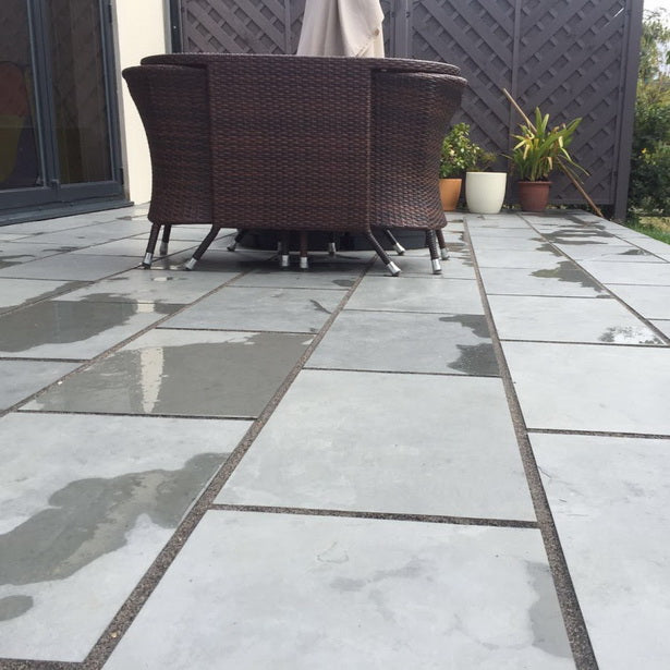 Brazilian grey slate patio paving