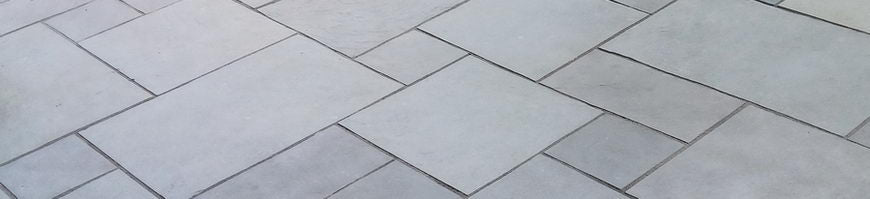 Dove grey limestone paving