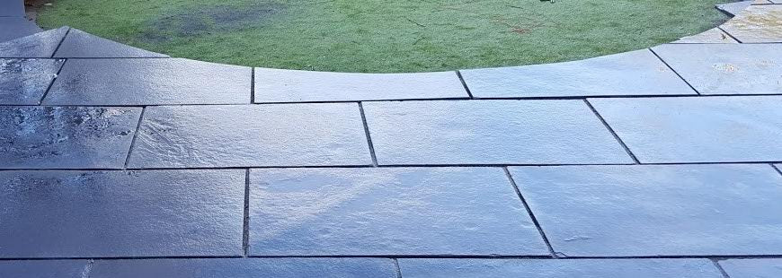 Indian limestone paving