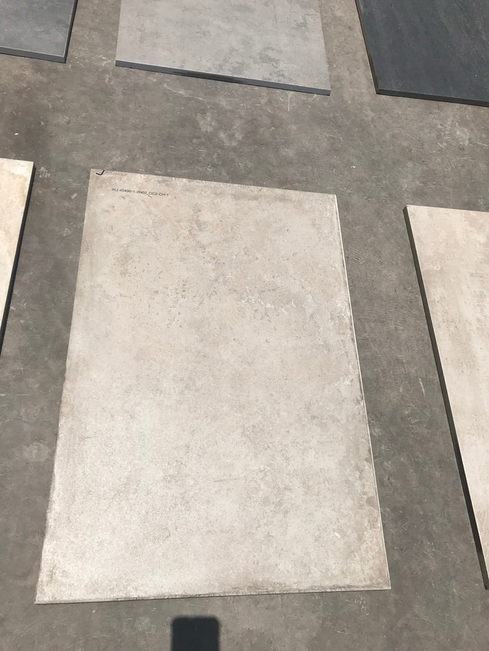 concrete light yellow vitrified porcelain paving