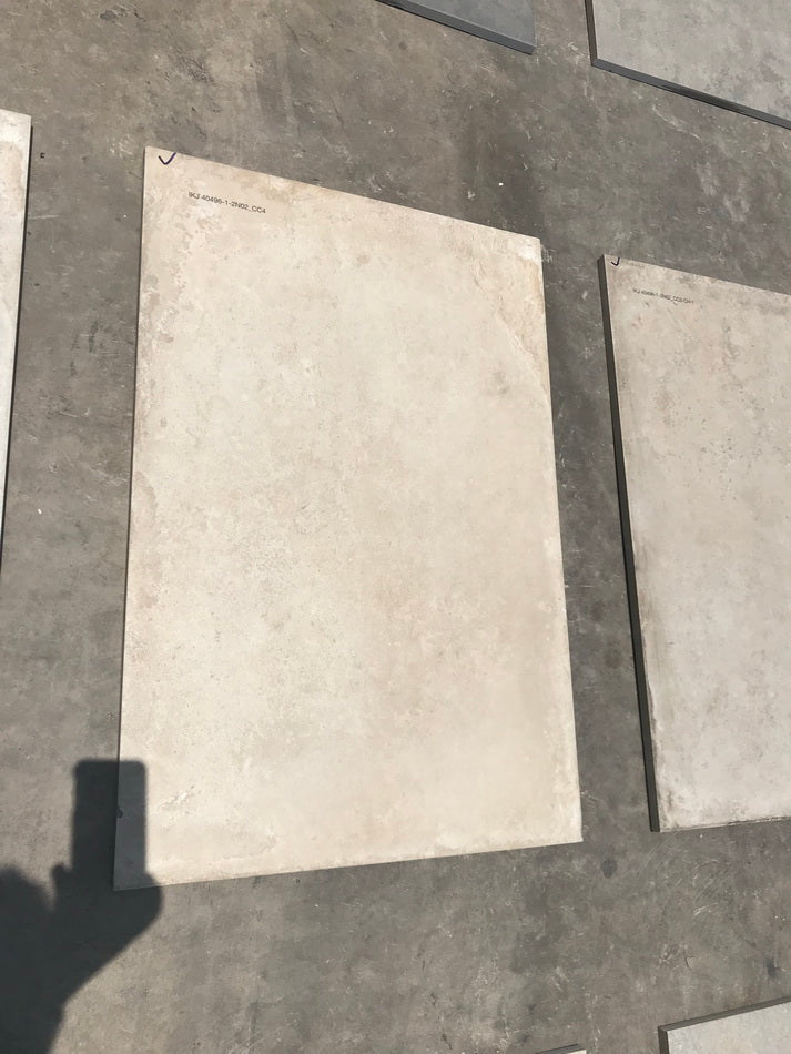 concrete cloud yellow vitrified porcelain paving