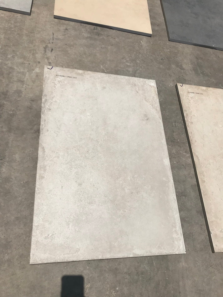 concrete ivory grey vitrified porcelain paving