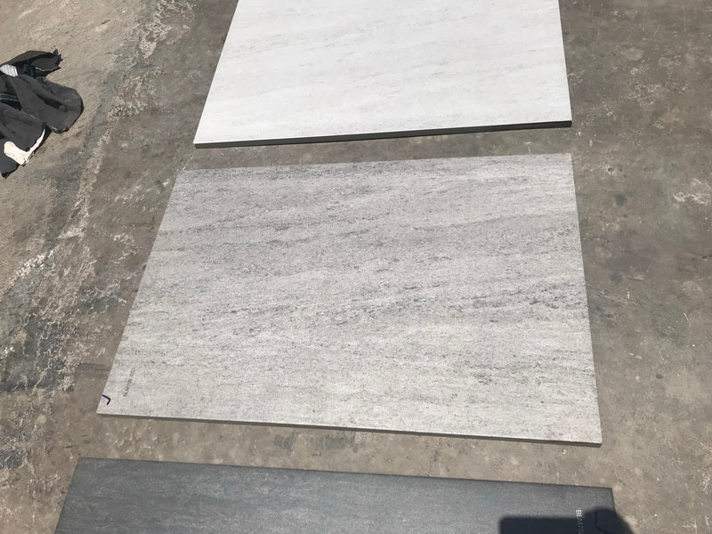 Silver Travertine Effect Porcelain Paving