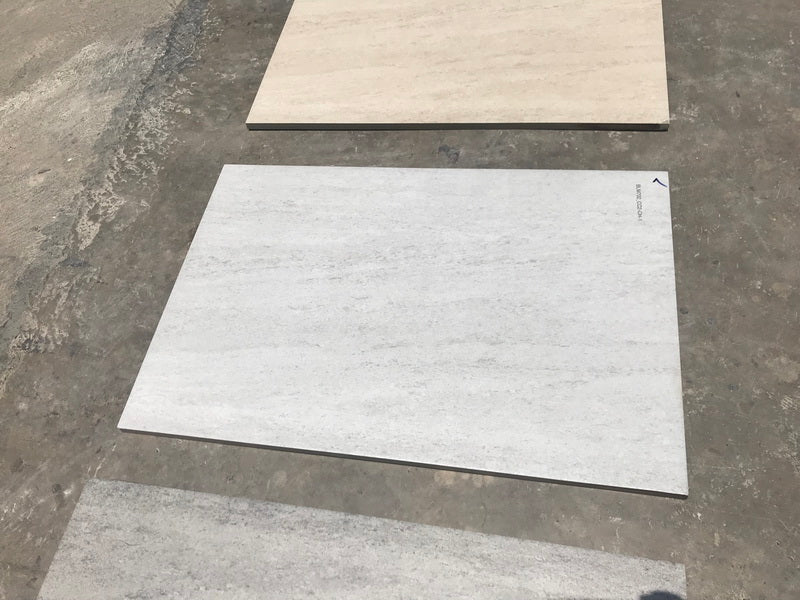 Cream Travertine Effect Porcelain Paving