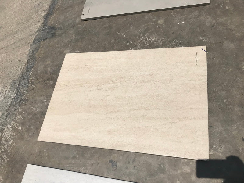 Beige Travertine Effect Porcelain Paving