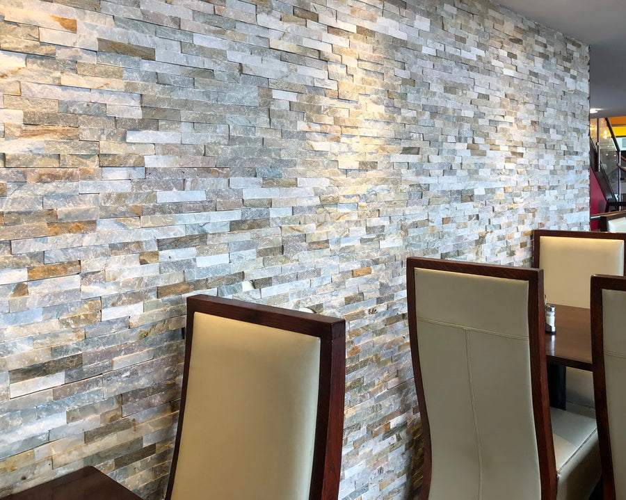 stone cladding, split face 3D mosaic tiles