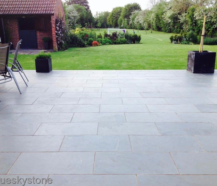 Slate Patio Slabs >> Brazilian Slate Paving Slabs Cloud Grey Slate For Patio