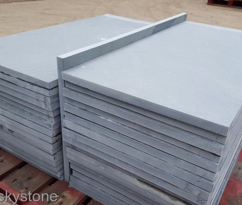 Brazilian Slate Paving, Grey Slate for Patio 800x400, 20mm Calibrated £27.17/m2