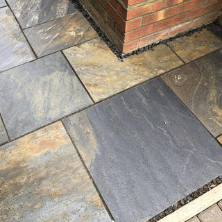 China Slate Paving Slabs, Multicolor Copper Slate 900 x 600