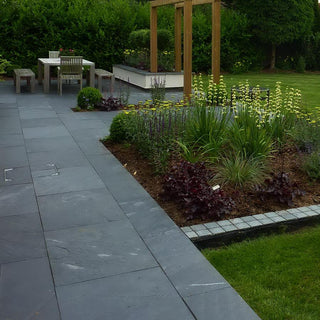 China Slate Paving Slabs, Midnight Black Slate 900 x 600