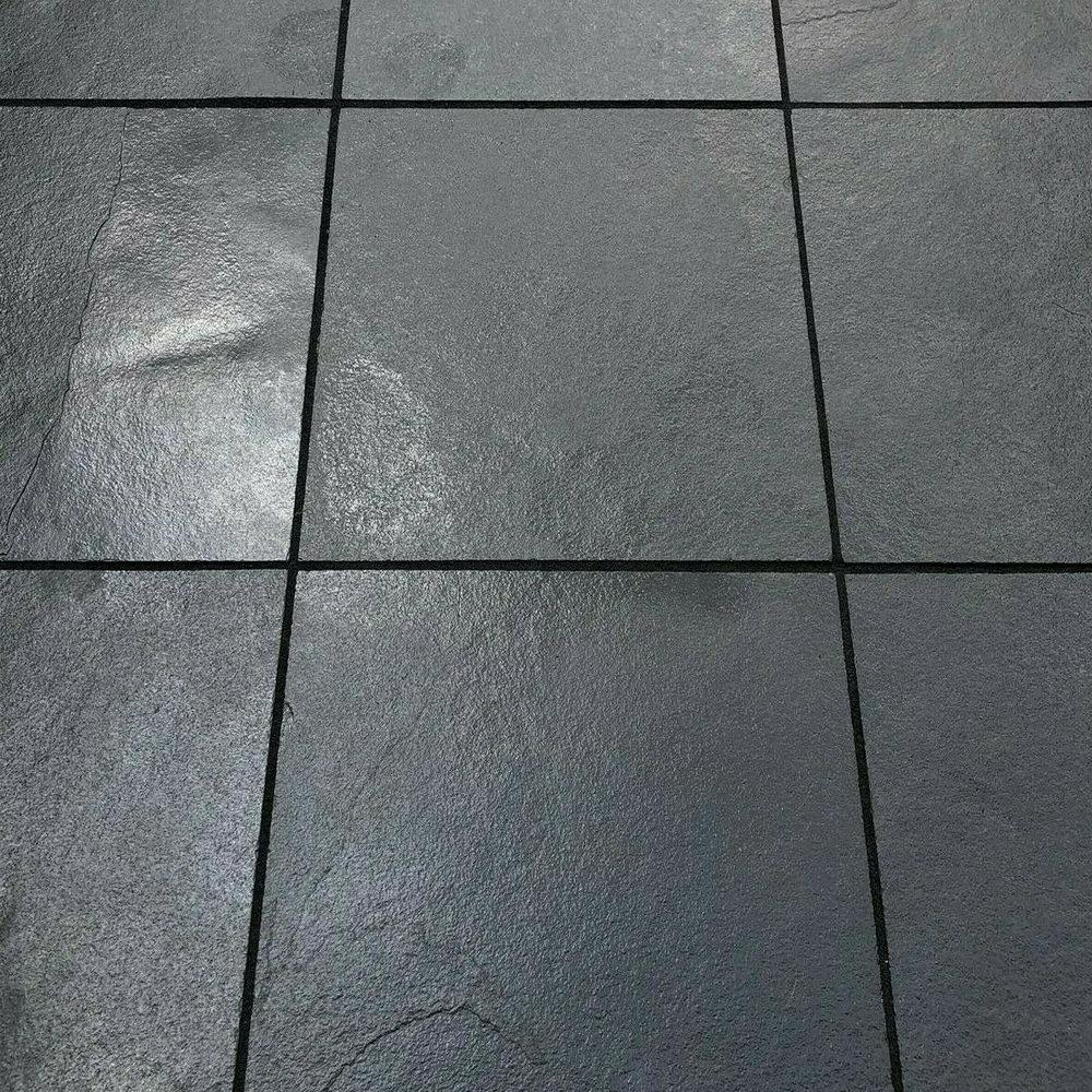 Paving Slabs 600 x 600 x 22, Midnight Black Limestone Sawn, £18.19/m2
