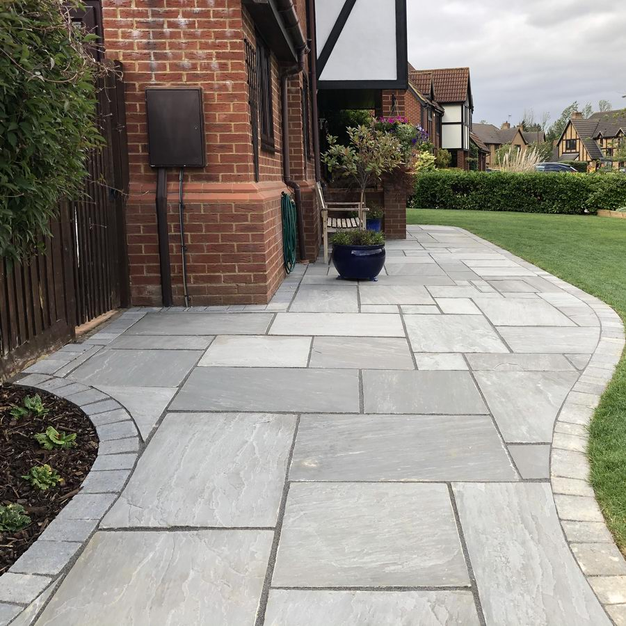 Kandla Grey Indian Sandstone Paving Slabs Patio Packs 22mm Cal. £21.69/m2