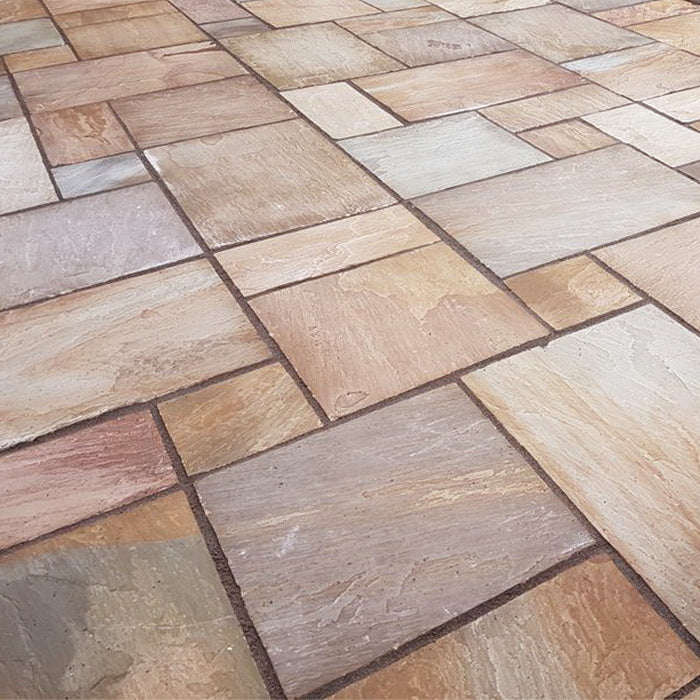 Rippon Buff Sandstone Paving Slabs, Patio Packs 22mm Cal. £21.16/m2