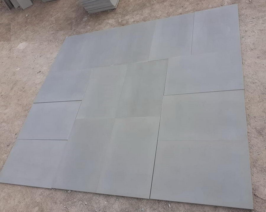 Smooth Sandstone Paving Slabs, Kandla Grey Sawn & Honed, 600x600 £29.99/m2