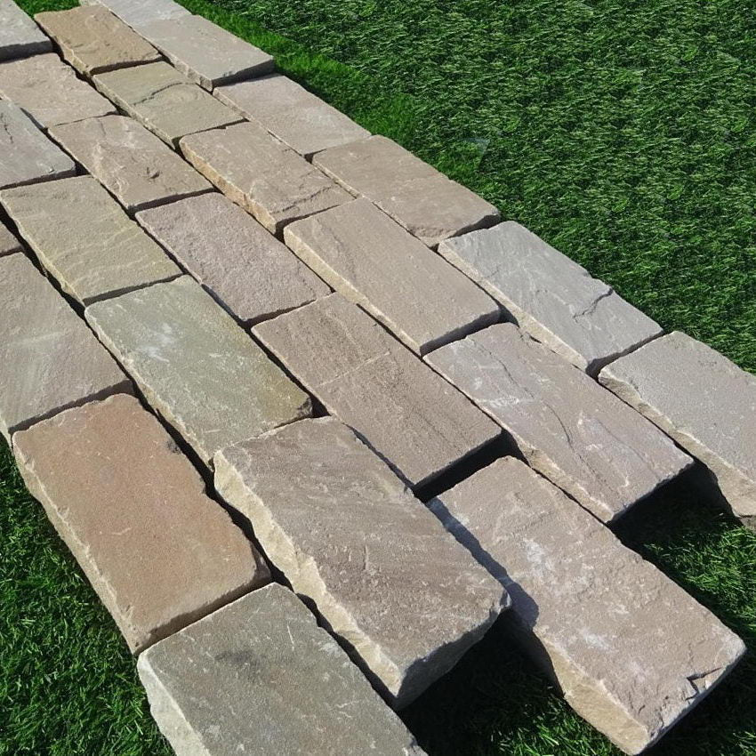 Raj Green Sandstone Setts & Cobbles 200 x 100 x 50mm, £37.99/m2