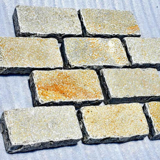 Yellow Limestone Setts, Driveway Paving, Edging & Borders 200x100x50 £43.49/m2