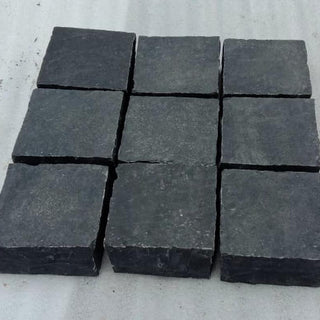 Block Paving, Black Limestone Setts, Edging & Borders 100x100x50 £35.69/m2