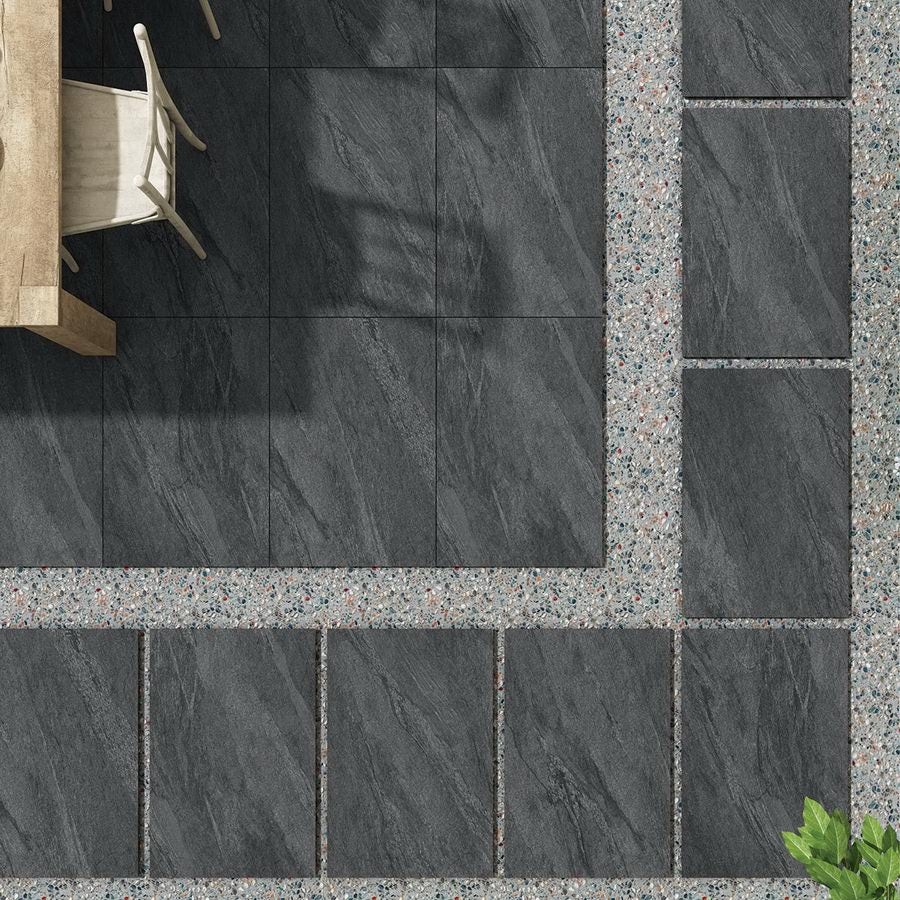 Porcelain Paving, Anthracite Black Slabs 900x600x20mm £26.99/m2