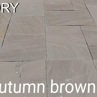Autumn Brown Indian Sandstone Paving Slabs 900x600 22mm Cal. £20.50/m2