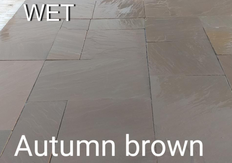 Autumn Brown Indian Sandstone Paving Slabs 900x600 22mm Cal. £17.89/m2
